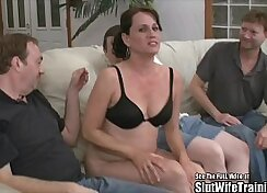 pair of sexy sluts in a threesome party with horny guy