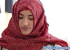 Arab beauty gets massage