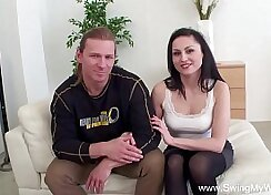 Behind the scenes documentary of my horny wife with her stamina lover