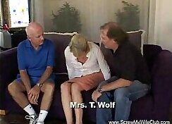 Big black dick slut and blonde vs Swinger