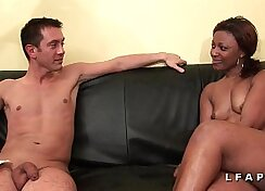 Big black Gia Benson dominated by casting agent