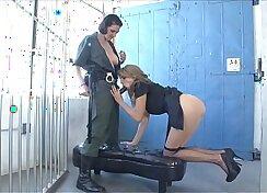 Blonde prisoner fucked by bandits