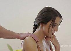 Asian Teen PerfectBottles Blue Toes Playfully Jizz on Face