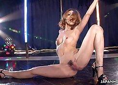 Asian girl masseuse stripping at work