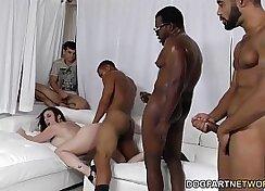 Black Son Fucked by His Tight Sofa