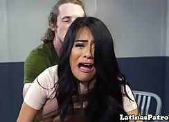 Appel Jewel wears uniform and he drills a hot Latina