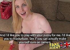 Casting newbie creamy and pretty big tits pov