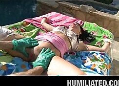 Cumshot. Leaving her gagged in the basements