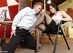 Chanel Preston and Mike Adriano in foot fetish scene