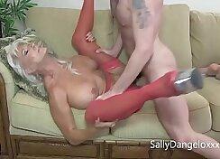 Curvy mature MILF in heels enjoys big cocks
