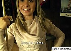 Blonde Amateur With Fake Tits Getting Banged In Public Bar