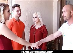 Blonde girlfriend fucked by her son