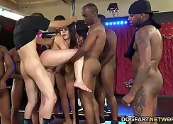 Angel Rose needs a dirty fuck with backyard double penetration