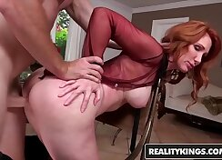 Blonde Milf needs money to pay her loan
