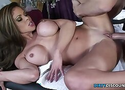 Big breasted Milf drilled in massage parlor