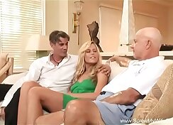 Anna-cuckold wife threesome fucking my husband