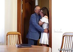 Classy milf seduces a young teen and pounded by him