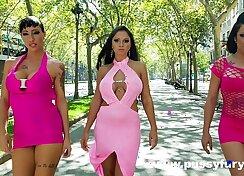 Busty Babe Olivia Naugas Strokes Her Hot Threesome BBE