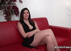 Casting young brunette assfucked in usechair