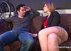 Busty mom in hot seductive lingerie tastes slim arse