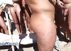 Big Dick Driver Rides to You On The Public Beach