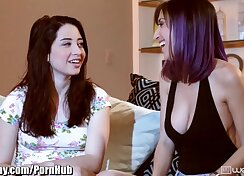 Alike looking sexy lesbians get licked and taste each others pussies