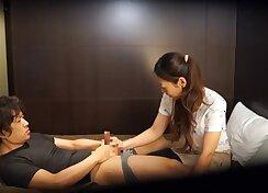 Beautiful Japanese lezzies enjoying they massage then fuck